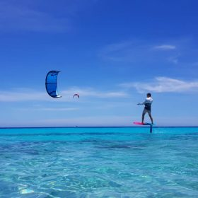 Caribbean kiting