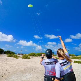 launching kite